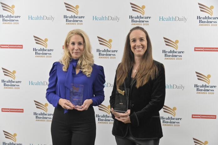 Τέπη Μαργιού – Medical Affairs Excellence Head και Gisella Dante – Managing Director.