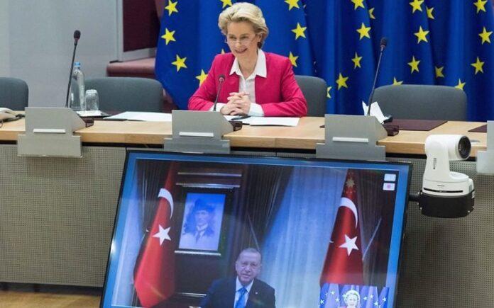 Τηλεδιάσκεψη Ερντογάν - Φον ντερ Λάιεν