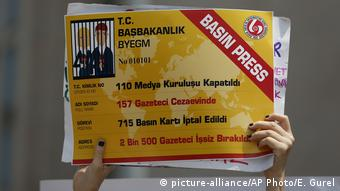 Διαδήλωσε υπέρ της ελευθεροτυπίας στη Τουρκία
